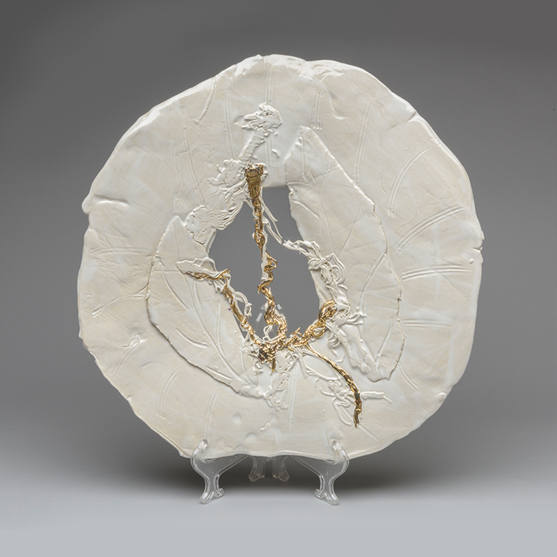 Ivory Plate 1270 by Lois Sattler
